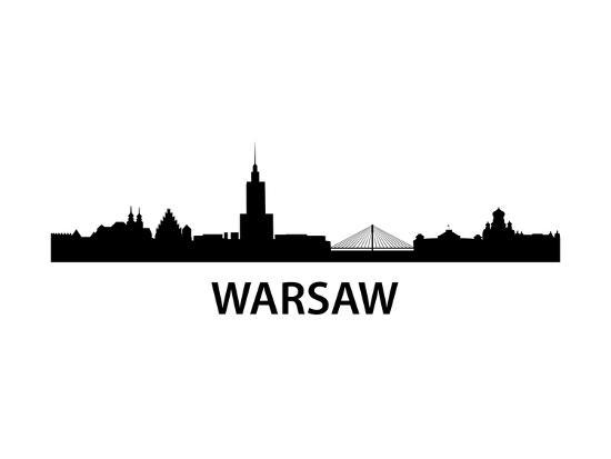 Skyline Warsaw-unkreatives-Art Print