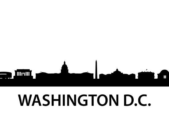 Skyline Washington D.C-unkreatives-Art Print