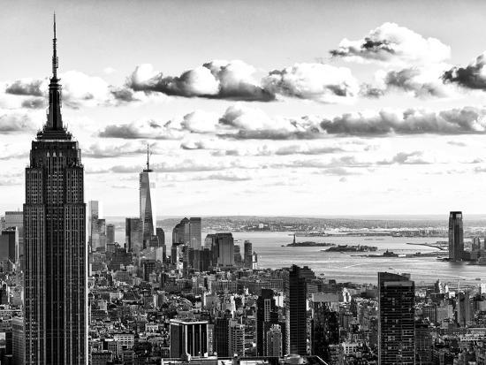 Skyline with the Empire State Building and the One World Trade Center, Manhattan, NYC-Philippe Hugonnard-Photographic Print