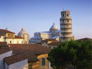 Skyline with the Leaning Tower, Duomo and Baptistery in the City of Pisa, Tuscany, Italy