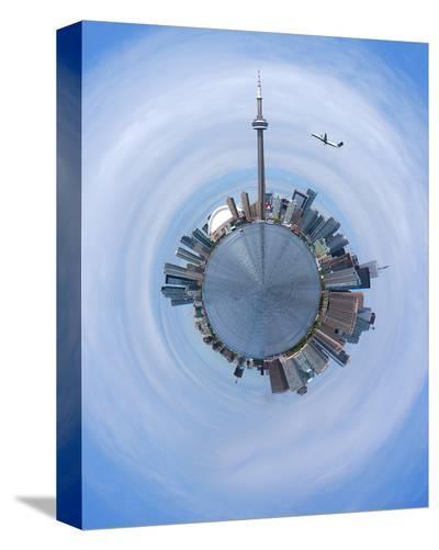 Skylines Of Toronto--Stretched Canvas Print