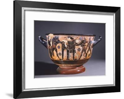 Skyphos Showing Battle for Delphic Tripod Between Hercules and Apollo--Framed Giclee Print