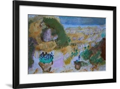 Skyros seaview from terrace-Cosima Duggal-Framed Giclee Print