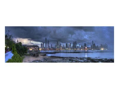 Skyscape City Panorama-Nish Nalbandian-Art Print