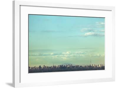 Skyscape of the Tokyo Area-Hiroshi Watanabe-Framed Photographic Print