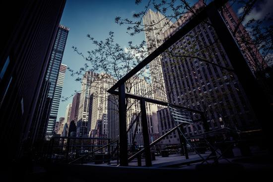 Skyscraper, Architecture, business district, Manhattan, New York, USA-Andrea Lang-Photographic Print