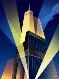 Skyscraper with Spotlights