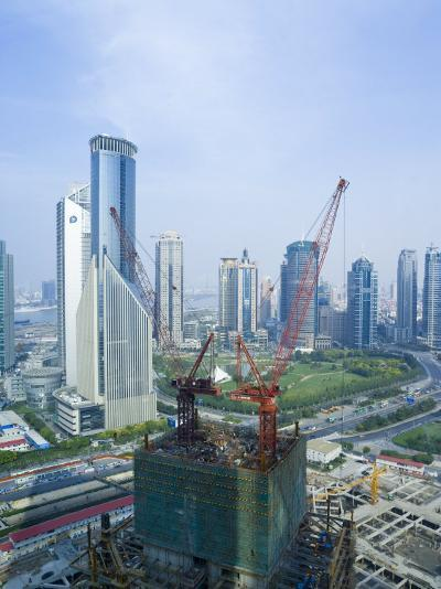 Skyscrapers and New Construction in the Lujiazui Financial District of Pudong, Shanghai, China-Gavin Hellier-Photographic Print