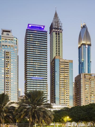 Skyscrapers at Sheikh Zayed Road, Dubai, United Arab Emirates-Rainer Mirau-Photographic Print