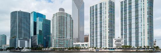 Skyscrapers at the waterfront, Brickell, Miami, Florida, USA--Photographic Print
