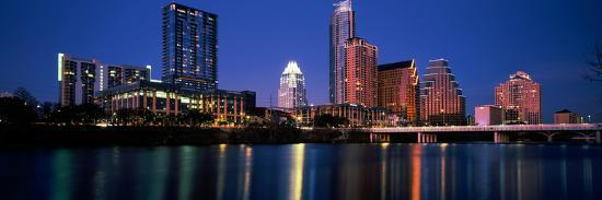 Skyscrapers at the Waterfront, Lady Bird Lake, Austin, Texas, Usa--Photographic Print