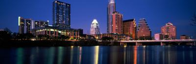 Skyscrapers at the Waterfront, Lady Bird Lake, Austin, Texas, Usa