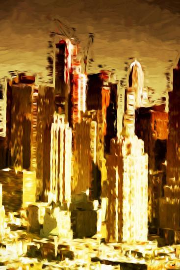 Skyscrapers Collection - In the Style of Oil Painting-Philippe Hugonnard-Giclee Print