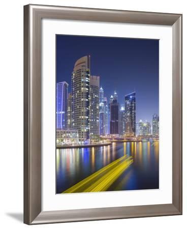 Skyscrapers, Dubai Marina, Dubai, United Arab Emirates-Rainer Mirau-Framed Photographic Print