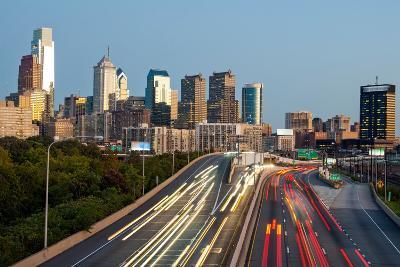 Skyscrapers in a City at Dusk, Philadelphia, Pennsylvania, Usa--Photographic Print