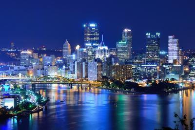 Skyscrapers in Downtown Pittsburgh, Pennsylvania, Usa.-SeanPavonePhoto-Photographic Print