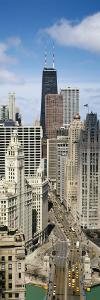 Skyscrapers in Michigan Avenue, Chicago, Illinois, USA