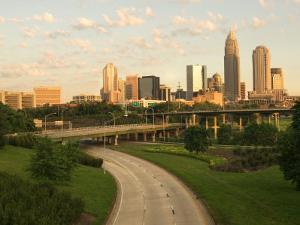 Skyscrapers in Skyline in Grandiose Charlotte, North Carolina