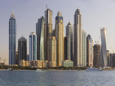 Skyscrapers Near Dubai Marina, the Palm Jumeirah, Dubai, United Arab Emirates-Rainer Mirau-Photographic Print