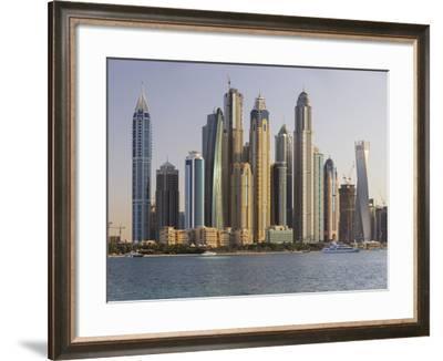 Skyscrapers Near Dubai Marina, the Palm Jumeirah, Dubai, United Arab Emirates-Rainer Mirau-Framed Photographic Print