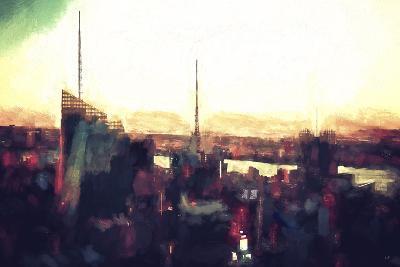 Skyscrapers Nightfall-Philippe Hugonnard-Giclee Print