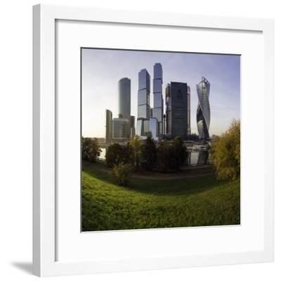 Skyscrapers of the Modern Moscow-City International Business and Finance Development-Gavin Hellier-Framed Photographic Print