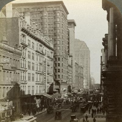 Skyscrapers, Randolph Street, Chicago, Illinois, USA, C Late 19th Century-Underwood & Underwood-Photographic Print