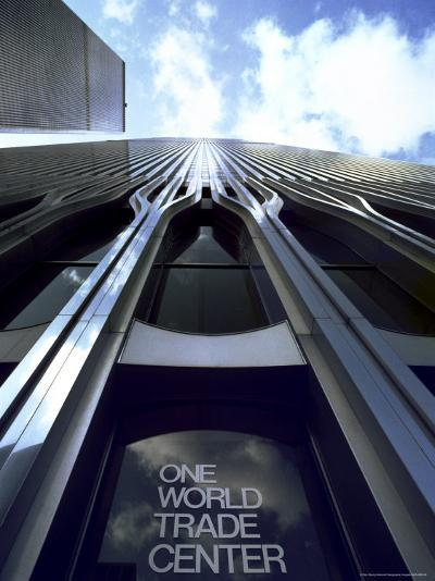 Skyward View of the Twin Towers of the World Trade Center-Rex Stucky-Photographic Print