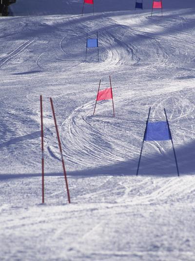 Slalom Ski Race Course-Bob Winsett-Photographic Print