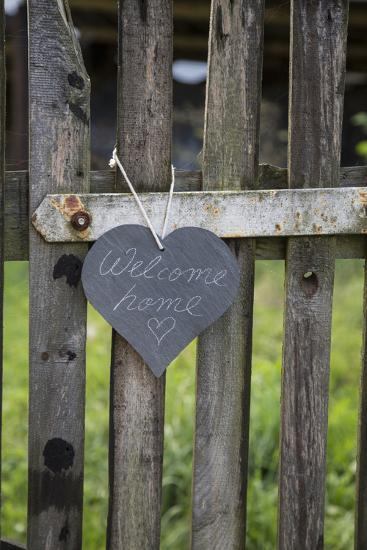 Slate Heart, Marks, Welcome Home, Old Fence-Andrea Haase-Photographic Print
