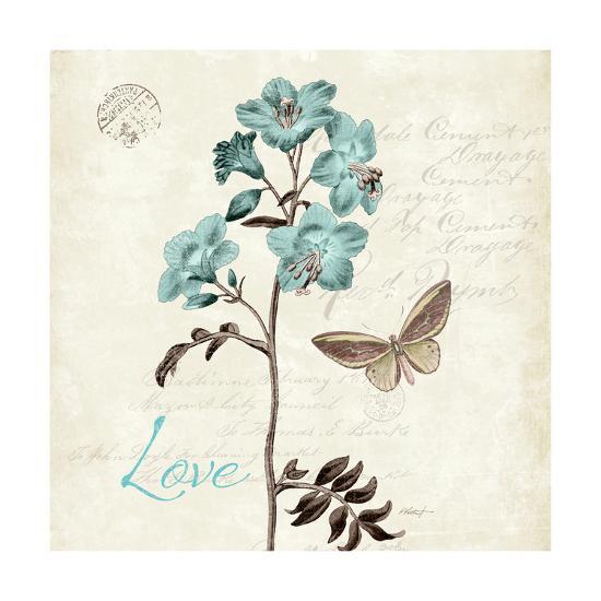 Slated Blue I Square-Katie Pertiet-Art Print