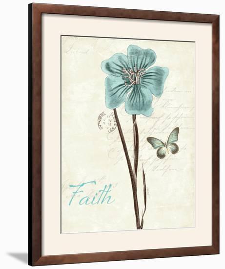 Slated Blue III Faith-Katie Pertiet-Framed Photographic Print