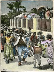 Slavery Emancipation Festival in Barbados, C1880