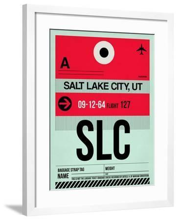 SLC Salt Lake City Luggage Tag I-NaxArt-Framed Art Print