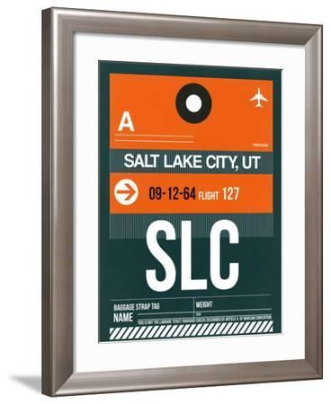 SLC Salt Lake City Luggage Tag II-NaxArt-Framed Art Print
