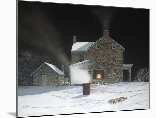 Sledding Party-Jerry Cable-Mounted Giclee Print
