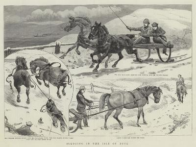 Sledging in the Isle of Bute--Giclee Print