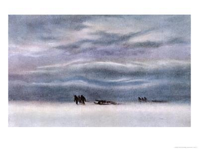 Sledging Party-Edward A^ Wilson-Giclee Print