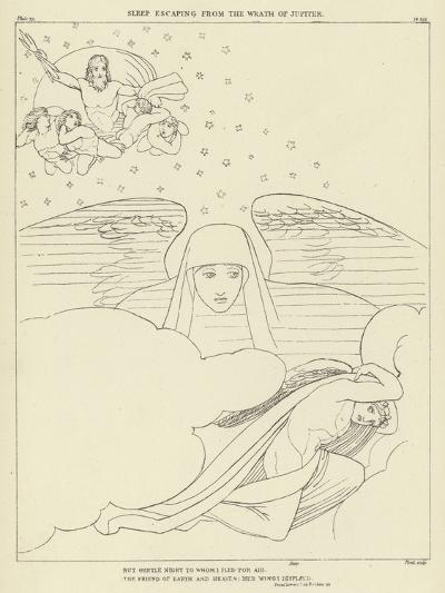 Sleep Escaping from the Wrath of Jupiter-John Flaxman-Giclee Print