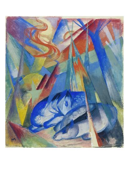 Sleeping Animals, 1913-Franz Marc-Giclee Print