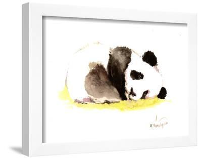 Sleeping Baby Panda-Suren Nersisyan-Framed Art Print