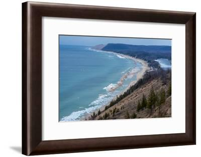 Sleeping Bear Dunes National Lakeshore on the East Side of Lake Michigan-Michael Melford-Framed Photographic Print