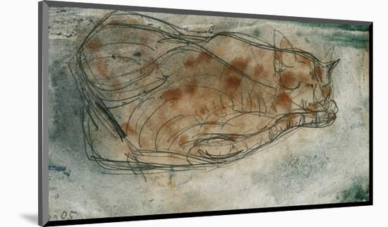 Sleeping Cat-Paul Klee-Mounted Premium Giclee Print
