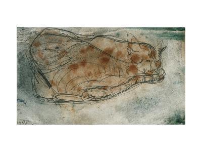 Sleeping Cat-Paul Klee-Giclee Print