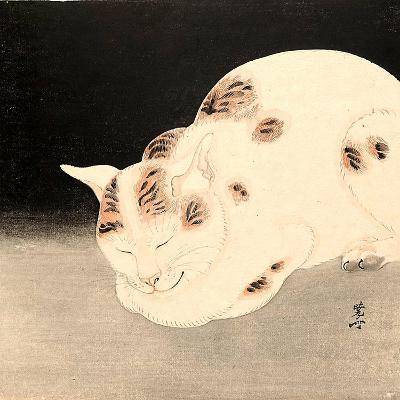Sleeping Cat-Kyosai Kawanabe-Giclee Print