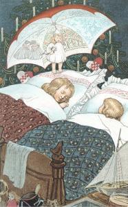 Sleeping Children with Umbrella Rild