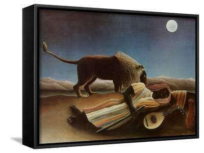 Sleeping Gypsy, 1897-Henri Rousseau-Framed Canvas Print