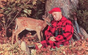 Sleeping Hunter with Deer, Retro