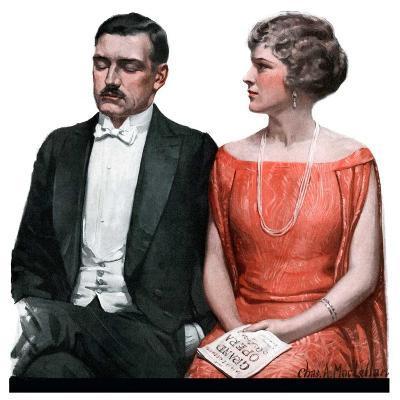"""Sleeping it Opera,""March 24, 1923-Charles A. MacLellan-Giclee Print"