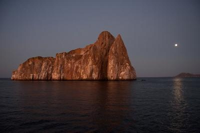 Sleeping Lion Rock Off San Cristobal in the Galapagos at Twilight-Karen Kasmauski-Photographic Print